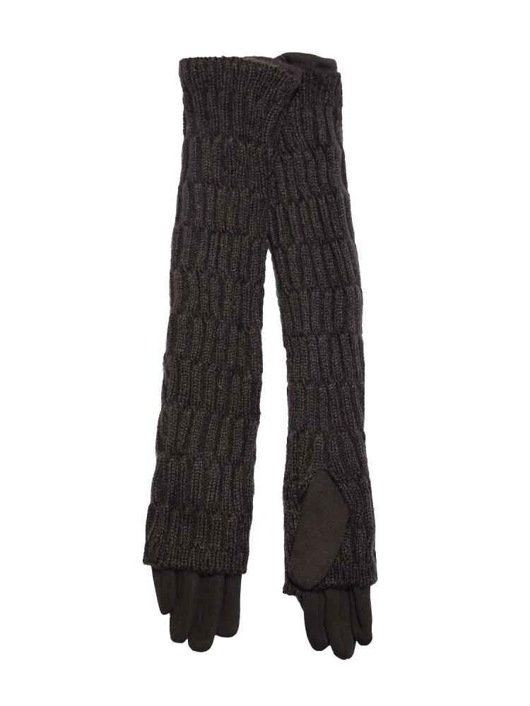 Moteriškos ilgos pirštinės su pašiltinimu 2 in 1  E51