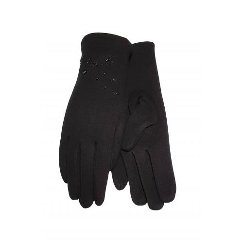 Moteriškos juodos pirštinės su pašiltinimu E460
