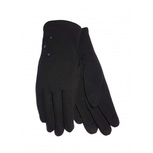 Moteriškos juodos pirštinės su pašiltinimu E462