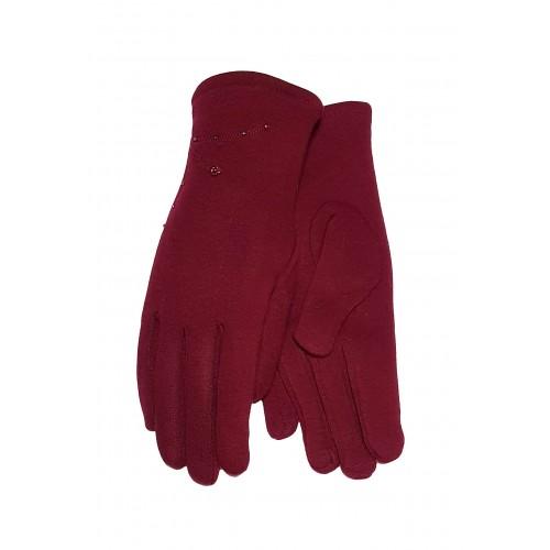Moteriškos raudonos pirštinės su pašiltinimu E501