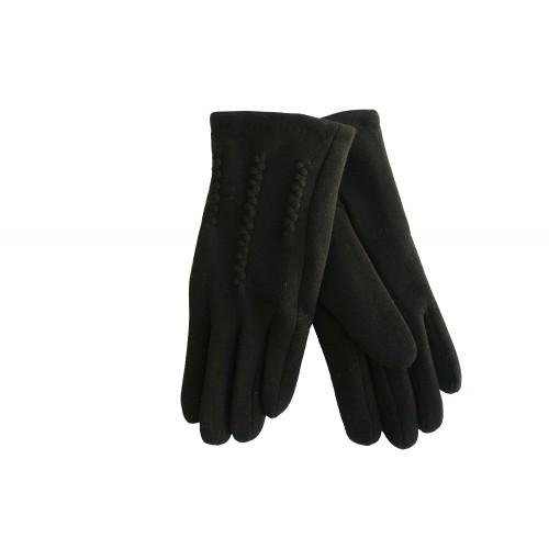 Moteriškos juodos pirštinės su pašiltinimu H06