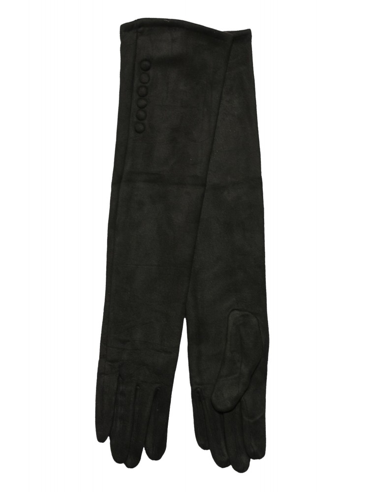 Moteriškos ilgos juodos pirštinės su pašiltinimu I13