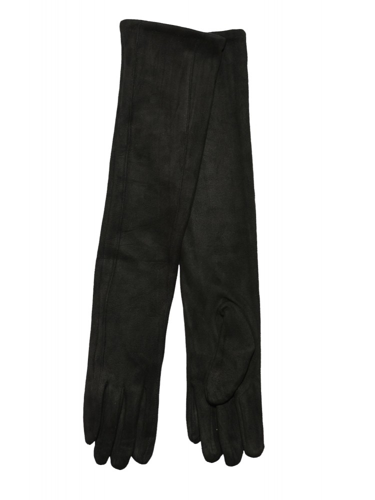 Moteriškos ilgos juodos pirštinės su pašiltinimu I15