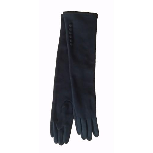 Moteriškos ilgos juodos pirštinės su pašiltinimu I26