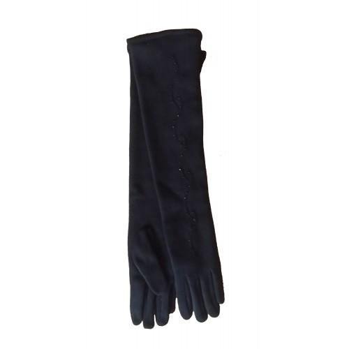 Moteriškos ilgos juodos pirštinės su pašiltinimu I27