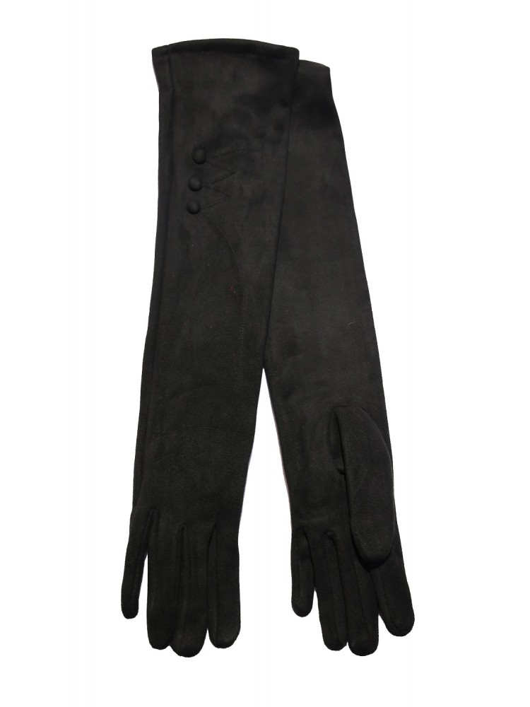 Moteriškos ilgos juodos pirštinės su pašiltinimu I32