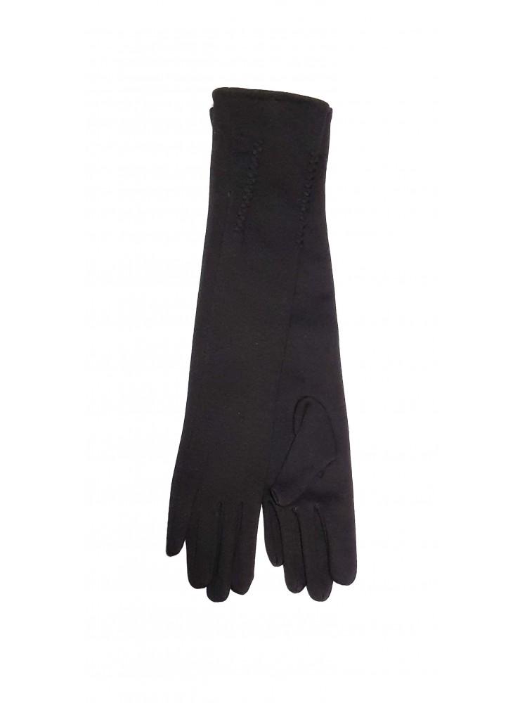 Moteriškos ilgos juodos pirštinės su pašiltinimu I36