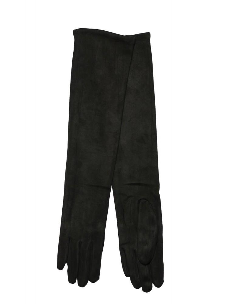 Moteriškos ilgos juodos pirštinės su pašiltinimu I37