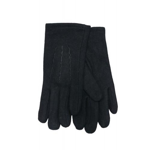 Vyriškos juodos angoros vilnos pirštinės su pašiltinimu V24