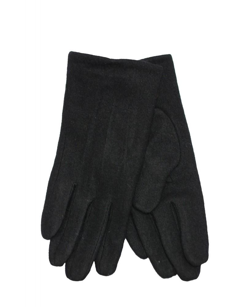 Vyriškos juodos angoros vilnos pirštinės su pašiltinimu V25