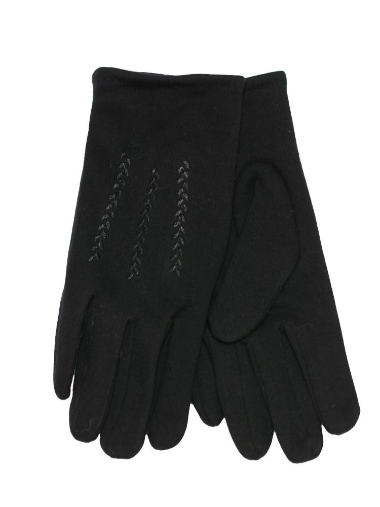 Vyriškos juodos bambuko pirštinės su pašiltinimu V21