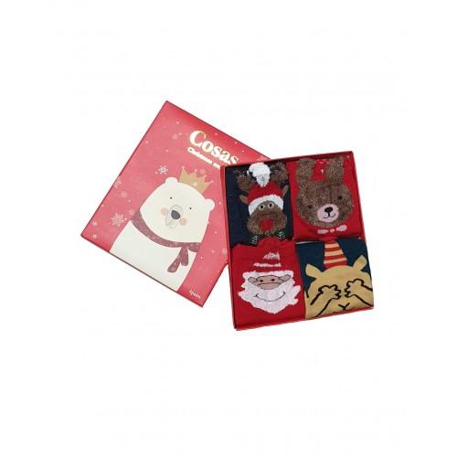 Moteriškos Kalėdinės Kojinės 4 Poros KLD18