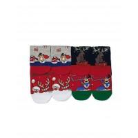 Moteriškos Kalėdinės Kojinės 4 Poros KLD11