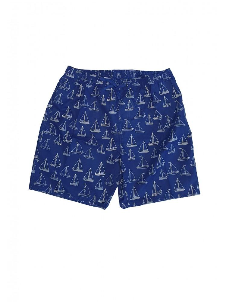 Vyriški mėlyni maudymosi šortai SIZE+ ZVS8944-1