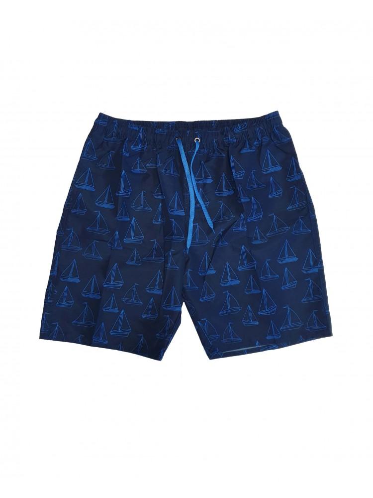 Vyriški mėlyni maudymosi šortai SIZE+ ZVS8944-3