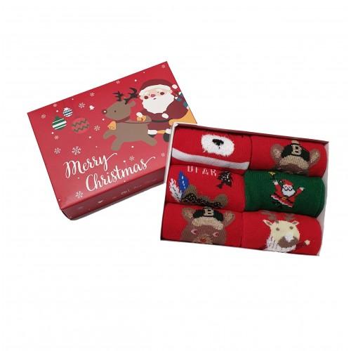 Vaikiškos Kalėdinės Kojinės 6 Poros KLDV08