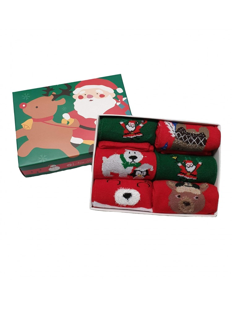 Vaikiškos Kalėdinės Kojinės 6 Poros KLDV09