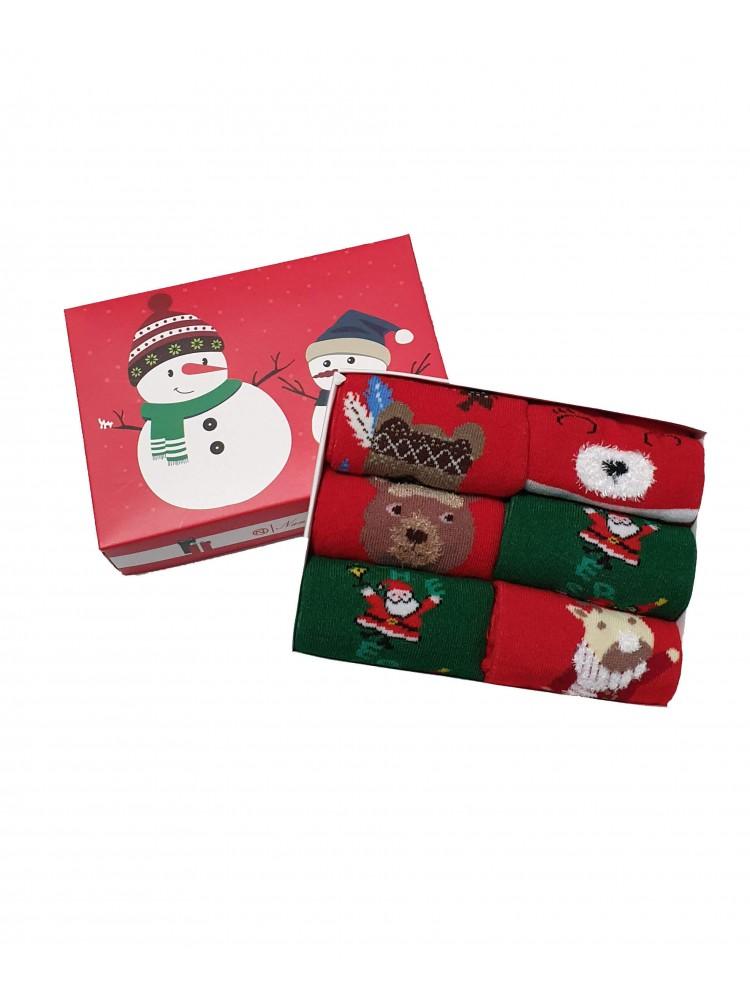 Vaikiškos Kalėdinės Kojinės 6 Poros KLDV10