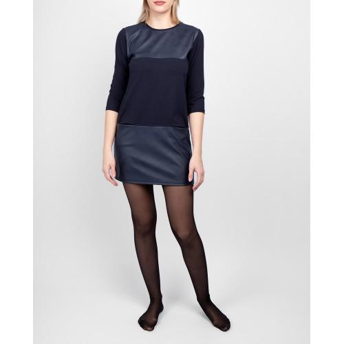 Moteriška mėlyna laisvalaikio suknelė LEN06-3