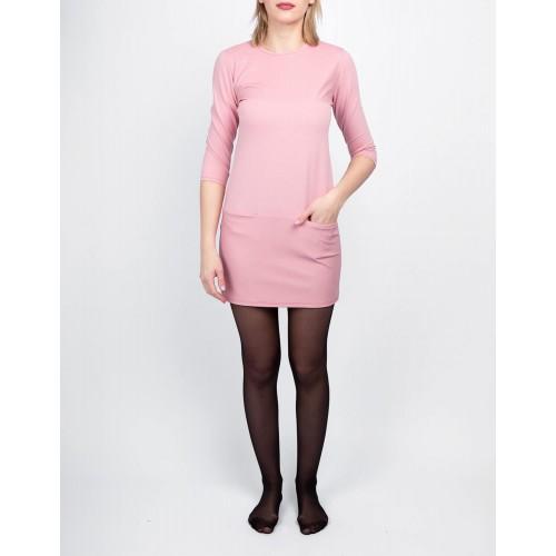 Moteriška rožinė laisvalaikio suknelė LEN06-1