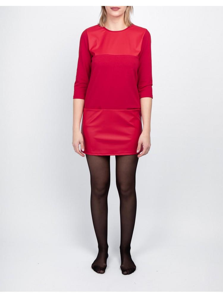 Moteriška raudona laisvalaikio suknelė LEN06-2