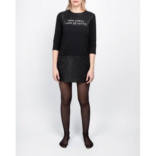 Moteriška juoda laisvalaikio suknelė LEN06-4