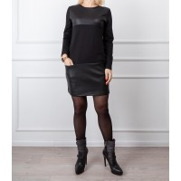 Moteriška juoda laisvalaikio suknelė LEN06